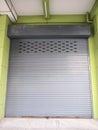 Shutter steel door Royalty Free Stock Photo