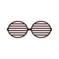 Shutter sunglasses simple icon