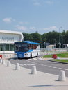 Shuttle bus lublin airport at the swidnik poland Royalty Free Stock Image