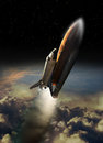 Shuttle launch ancient starting its trip to space Stock Photo