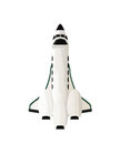 Shuttle spaceship design isolated objects on white background Stock Images
