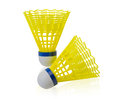Shuttlecock badminton ball Stock Photo