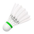 Shuttlecock for badminton from bird feathers Royalty Free Stock Photo