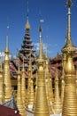 Shwe gästgivargård thein ithein inle lake myanmar Royaltyfri Bild