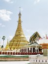 Shwe muay wan temple paya is a myawaddy x s most important a traditional bell shaped stupa gilded with many kilos of gold and Royalty Free Stock Images