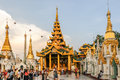 Shwedagon complex in the yangon Stock Photos