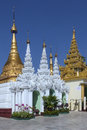 Shwedagon pagoda complex yangon myanmar the officially titled zedi daw in the city of in burma Stock Image