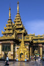 Shwedagon pagoda complex yangon myanmar temples in the in the city of in burma Royalty Free Stock Photo