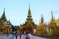 Shwedagon pagoda in Yagon, Myanmar Royalty Free Stock Photos