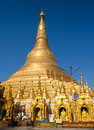 The shwedagon pagoda in yangon capital of republic of union of myanmar Stock Photo