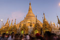Shwedagon Pagoda in Yangon at dawn