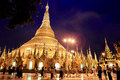 Shwedagon pagoda in yangon myanmar the golden is is a metres ft tall Royalty Free Stock Photography