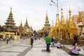 Shwedagon Paya Complex Royalty Free Stock Images