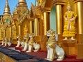 Shwedagon Temple Yangon Stock Photo