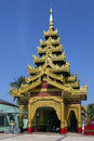 Shwemawdaw paya bago myanmar burma buddhist temple at in Stock Image