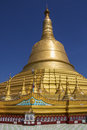 Shwemawdaw paya bago myanmar burma the mon pagoda of is a stupa located in it is often referred to as the golden god temple it is Royalty Free Stock Photography