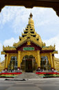 Shwemawdaw paya pagoda is a stupa located in bago myanmar the it often referred to as the golden god temple at feet height the Stock Images