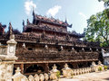 Shwenandaw monastery or golden palace in Mandalay, Myanmar 1 Royalty Free Stock Photo