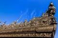 Shwenandaw Monastery Mandalay city Myanmar Royalty Free Stock Photo