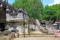 Shwenandaw Monastery Stair, Mandalay, Myanmar Royalty Free Stock Photo