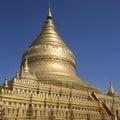 Shwezigon pagoda ancient city bagan myanmar burma Stock Photo