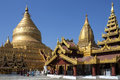 Shwezigon Pagoda - Bagan - Myanmar Stock Photography