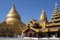 Shwezigon Pagoda - Bagan - Myanmar Stock Photography