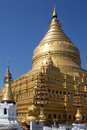 Shwezigon pagoda bagan myanmar burma the in the ancient city of in Stock Image