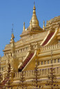 Shwezigon pagoda bagan myanmar burma detail on the in the ancient city of in Royalty Free Stock Photo