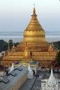 Shwezigon Pagoda - Bagan - Myanmar Royalty Free Stock Photo