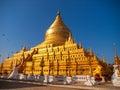 Shwezigon Pagoda, Bagan Royalty Free Stock Photo