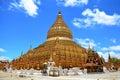 Shwezigon Pagoda or Shwezigon Paya Royalty Free Stock Photo