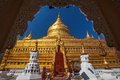 Shwezigon Paya, Bagan Royalty Free Stock Photo