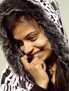 Shy girl smiling Royalty Free Stock Photo