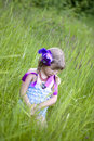 Shy little girl Royalty Free Stock Photo