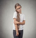 Shy teenager girl Royalty Free Stock Photo