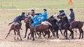 Shymkent, KAZAKHSTAN - 22 March 2017: Celebration of the Kazakh holiday NARIYZ. Competitions on horses