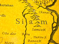 Siam map Royalty Free Stock Photo