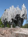 Sibelius monument in helsinki abstract steel pipe art finland Royalty Free Stock Photo