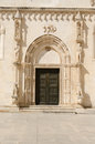 Sibenik cathedral door of the of st james in built entirely of stone and marble croatia Royalty Free Stock Images