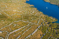 Sibenik channel aerial Royalty Free Stock Images