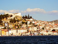 Sibenik view of in croatia in europe Royalty Free Stock Photo