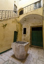 Sibenik well in a courtyard of the croatian town of Royalty Free Stock Photos