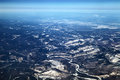 Siberia view from the top of the winter russia Royalty Free Stock Photo