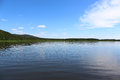 Siberian landscape river kan of the and taiga Stock Images
