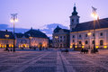 Sibiu center by night image showing the great square in romania Stock Photography