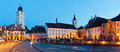 Sibiu city center panorama Royalty Free Stock Photos