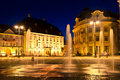 Sibiu - night view Royalty Free Stock Photo