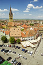 Sibiu is one of the most important cultural centres of romania and in tandem with the city of luxembourg it was designated a Stock Photo