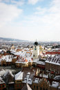 Sibiu panoramical view Stock Photos